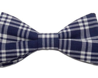 Bow tie blue and white tiles with straight edges