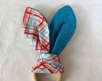 Teether teething toy bunny rabbit rabbit ears rabbit ears