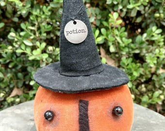 Herminee, our primitive little witch pumpkin