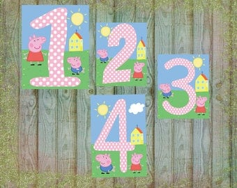 Peppa Pig Birthday Sign