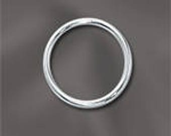 9mm 20 Gauge Sterling Silver Closed Jump Ring