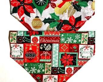 Reversible Holly Christmas Bandana