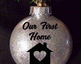 Our First Home - Christmas Ornament - Housewarming Gift - Personalized - New Home Ornament - New Home - First New Home - Custom Ornament
