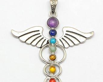ON SALE Vintage Chakra Healing Pendant