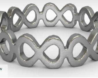 Silver Infinity Ring - Size 6