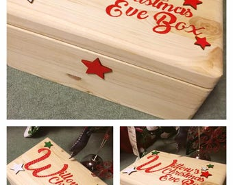Hand Painted Christmas Eve Box