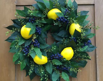 Lemon and  Blueberry Wreath