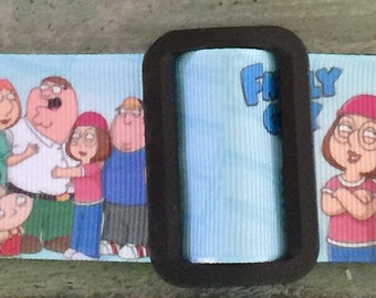 "Large * XL * Dog Collar* Cartoon Family  * 1.5"" width Buckle or Martingale"
