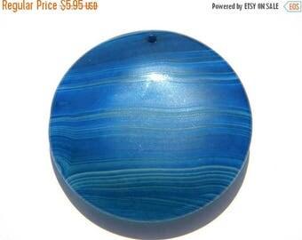 HALF PRICE Blue Agate Focal Bead - Statement Bead