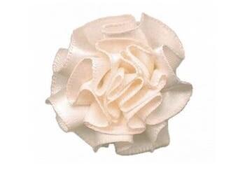 3 flower designed Satin Cream ecru - 1961