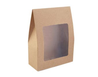 3 sac cadeau 9 x 13 cm fenetre cristal