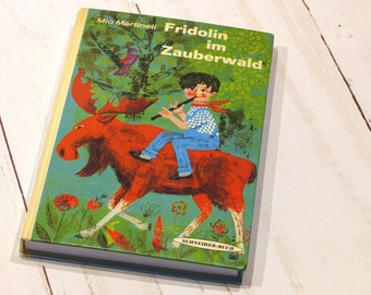 """upcycling notebook """"Fridolin"""" from an old youth book, ca. din A5"""