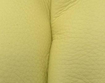 "NZ Deer Sale Bright Lime Green Leather New Zealand Deer Hide 8""x 10"" Pre-cut 3-3 1/2 ounces-26 DE-66157 (Sec. 4,Shelf 4,A)"
