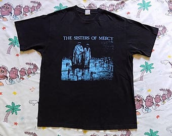 Vintage 90's Sisters Of Mercy Body and Soul T shirt, size XL Merciful Release records 80's album goth post punk
