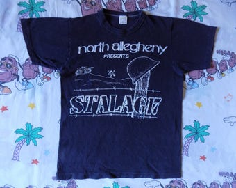 Vintage 80's Stalag 17 School Play T shirt, size S/XS by Sportswear movie film
