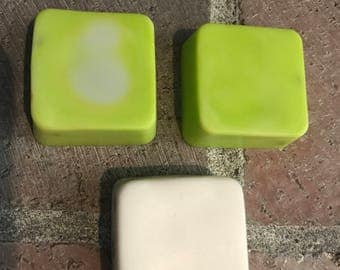 Handmade bath soap set, small soaps, soap set of 3, lemongrass