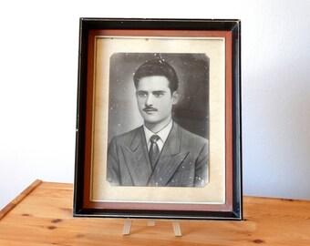 Man Portrait, Old Portrait, Framed Photo, Antique Framed Portrait, Photo Frame, Greek Photograph, Framed Photography, Framed Photograph,