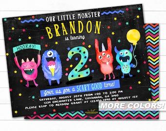Monster Birthday Invitation, Monster Invitation, Monster First Birthday , Little Monster Birthday, Monster Party, Monster Birthday Invite