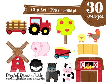 Barnyard Clipart Farm Animals Commercial Use PNG High Quality ddp0006