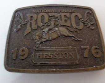 1976 National Finals Rodeo Hesston, Vintage Hesston Belt Buckle , Hesston, Rodeo Belt Buckle, Belt Buckle Vintage, VIntage Belt Buckle, Belt