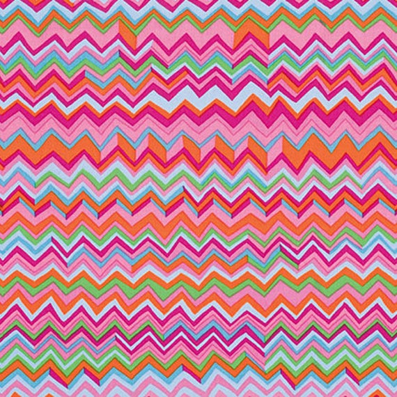 ZIG ZAG Pink PWBM043 Brandon Mably Kaffe Fassett Collective Sold in 1/2 yd increments