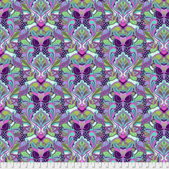 "Pre-Order FQ OWL Petunia Tula Pink  All Stars pwtp117.petun  18"" x 22"" Multiples cut as one length"