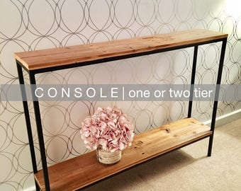 R U R A L | salvage Slender Steel Console Table | 40 x 8 x 29