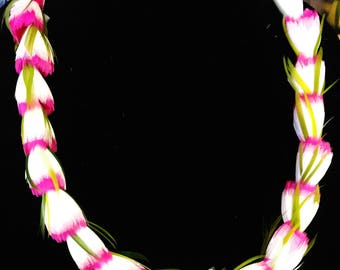 make a hawaiian feather lei kit two toned feather rosebud diy crafts
