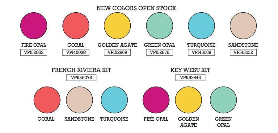 Key West Vintaj Patina Kit Metal Patina Paint Ranger Fire Opal Golden Agate Green Opal Paint