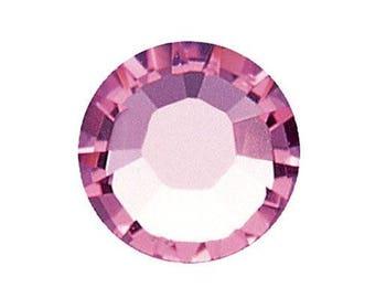 2028 SS10 hotfix rhinestones light rose