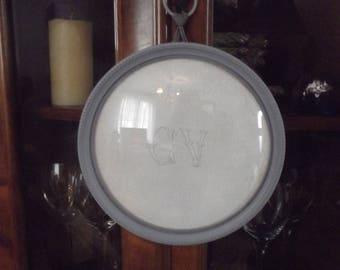 FRAME under glass old original bomb