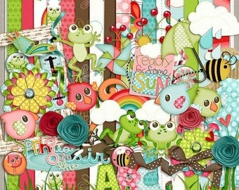 ON SALE NOW 65% off Spring Has Sprung Extra Digital Scrapbook Kit