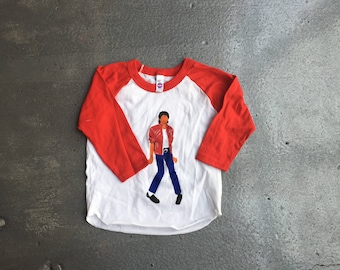 Michael Jackson Beat It Outfit Raglan Tee