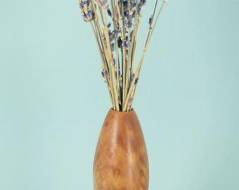 Twig vase turned from Camphor Burl (Vietnam)