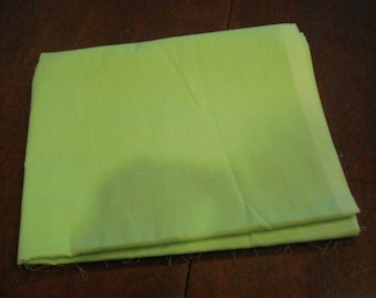 Lightweight green cotton fabric one piece 2 yards 44 inch wide