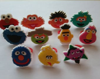 Sesame Street Rings Party Favor Cupcake Toppers