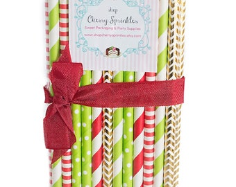 Grinch -Christmas Party Decor *Red and Green Straws -Gold Foil Straws *Paper Straws *Christmas Straws *Red Straws *Lime Green Straws Holiday
