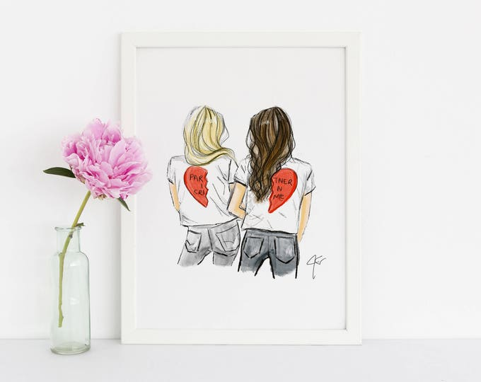 Featured listing image: LIMITED EDITION Partner In Crime - Red Hearts (Available In Different Hair Colors and Skin Tones)