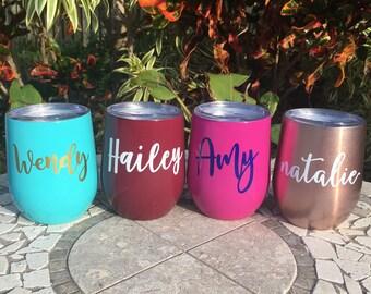 Personalized Swig Wine Tumbler, Monogram Swig Wine Cup, Stainless Steel Wine, Monogrammed Gift, Customized Swig Cup, Personalized Gift