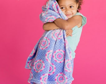 Pink and Purple Zoey duffle and Blanket