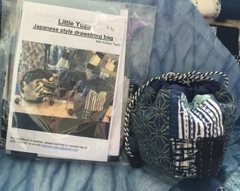Little Yuzu, Japanese style drawstring bag