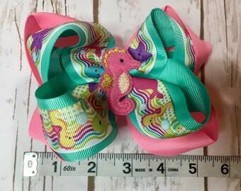 Seahorse hair bow