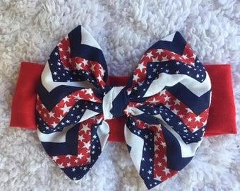 Patriotic Headband Bow
