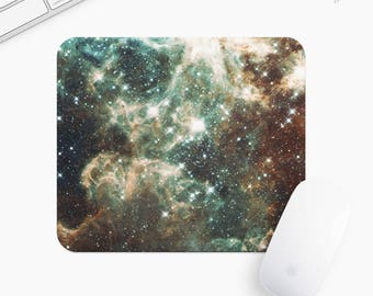 Galaxy and Stars Mouse Pad, Universe Mousepad, Rectangle or Round, Gift mp0004