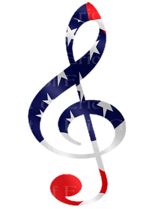 Band Music Note Patriotic  Birthday - Edible Cake and Cupcake Topper For Birthday's and Parties! - D22714