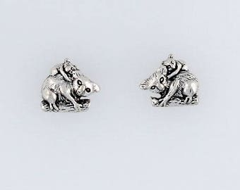 Sterling Silver Koala Bears Post or Stud Earrings