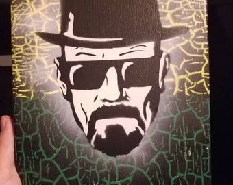 Heisenberg (small) - Spray paint on stretched canvas