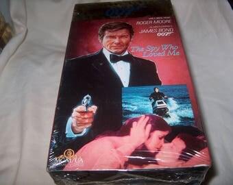 Vintage VHS Movie, James Bond 007, Factory Sealed, The Spy Who Loved Me,1977, Home Video