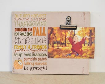 Fall Home Decor, Thanksgiving Decor, Thanksgiving Table Decor, Thanksgiving Centerpiece, Thanksgiving Photo Frame, Fall Decor, Picture Frame