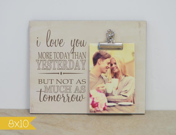 5th Wedding Anniversary Gift Ideas For Him: Valentines Day Gift For Her, Personalized Photo Frame, 5th